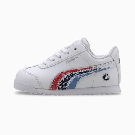 BMW M Motorsport Roma Toddler Shoes, Puma White-Puma White, small