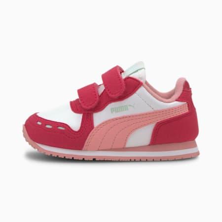 Cabana Racer SL Baby Trainers, Puma White-BRIGHT ROSE-Peony, small