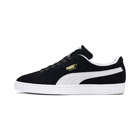 Suede Classic+ Trainers, black-white, small-GBR