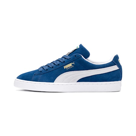 Suede Classic+ Sneakers, olympian blue-white, small
