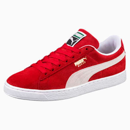 Suede Classic+ Trainers, high risk red-white, small-SEA
