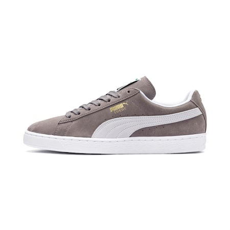Suede Classic+ Trainers, steeple gray-white, small