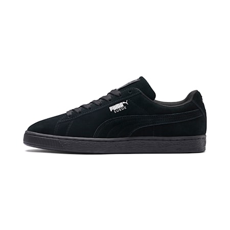 2019 Suede Classic+ Men's Trainers, black-dark shadow, small