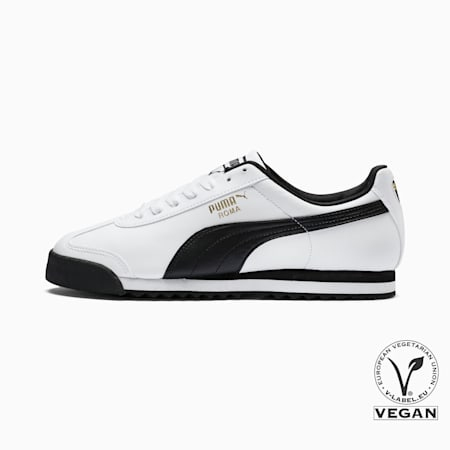 Roma Basic Sneakers, white-black, small