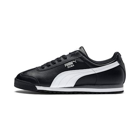 Roma Basic Trainers, black-white-puma silver, small
