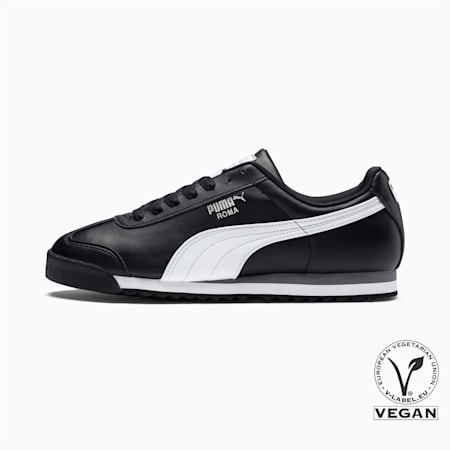 Roma Basic Men's Sneakers, black-white-puma silver, small