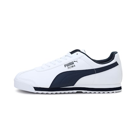Roma Basic Men's Sneakers, white-new navy, small-IND