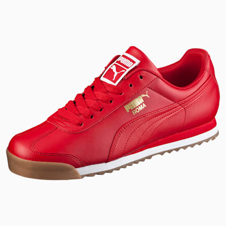 Roma Basic Men's Sneakers, Barbados Cherry-Puma White, small-IND