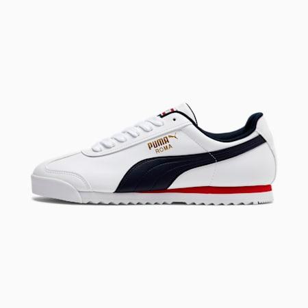 Roma Basic Men's Sneakers, Puma White-NIGHT SKY, small