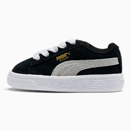 Puma Suede Toddler Shoes, black-white, small