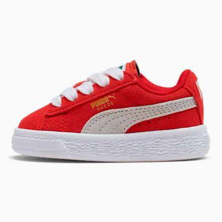 Puma Suede Toddler Shoes, high risk red-white, small