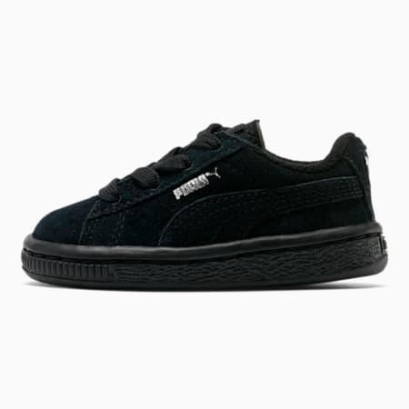 Puma Suede Toddler Shoes, black-puma silver, small