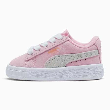 Puma Suede Toddler Shoes, Pink Lady-Puma White, small