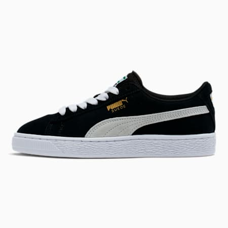 Suede Sneakers JR, black-white, small