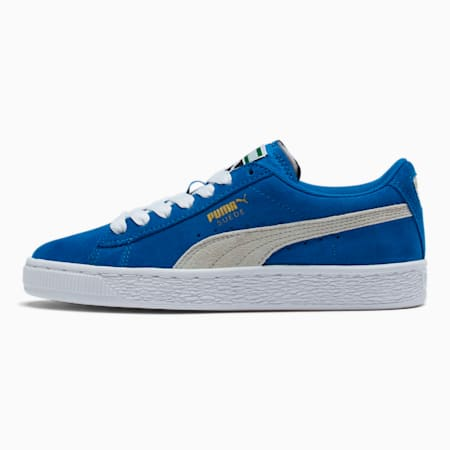 Suede Sneakers JR, snorkel blue-white, small