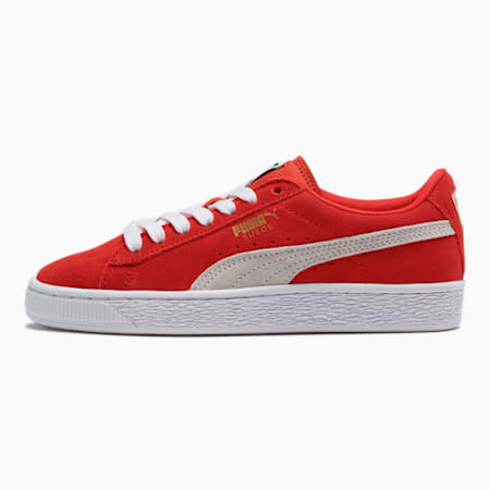 Suede Sneakers JR, high risk red-white, small