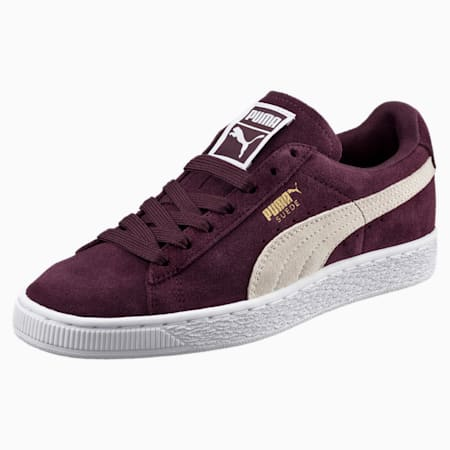 Suede Classic Women's Trainers, Winetasting-Puma White, small-GBR