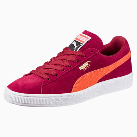 Suede Classic Women's Sneakers, Tibetan Red-Hot Coral, small