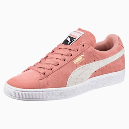 Suede Classic Women's Trainers, Cameo Brown-Puma White, small-GBR