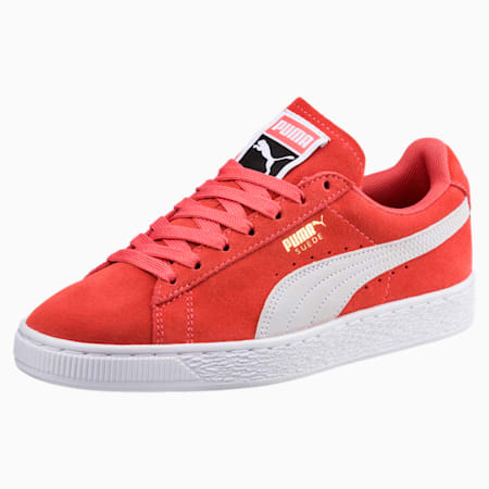 Suede Classic Women's Sneakers, Spiced Coral-Puma White, small