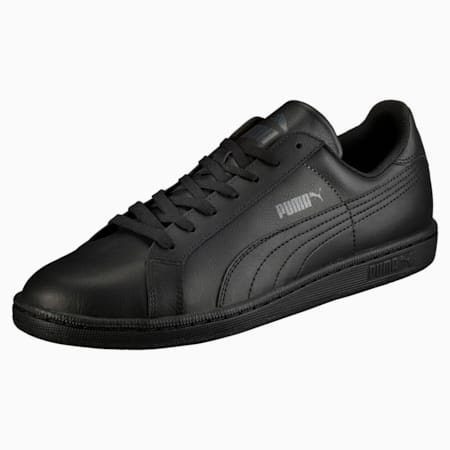 Smash Leather Men's Sneakers, black-dark shadow, small-IND