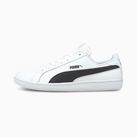 Smash leren sportschoenen, white-black-white, small