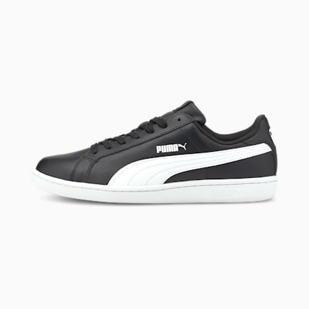 Smash Leather Trainers, black-white, small