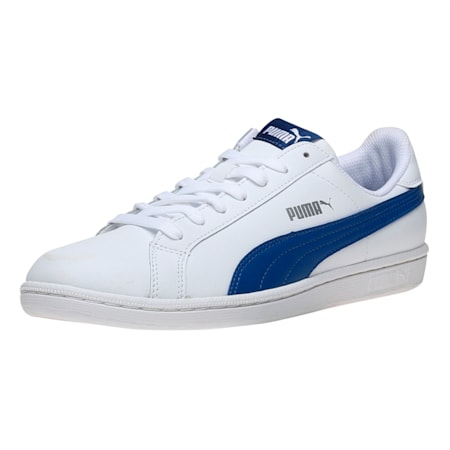 Smash Leather  Sneakers, Puma White-TRUE BLUE, small-IND