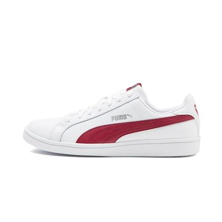 Smash Leather Trainers, Puma White-Tibetan Red, small-SEA