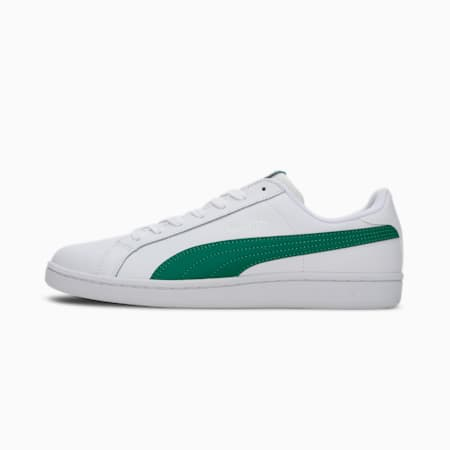 Smash Leather  Sneakers, Puma White-Verdant Green, small-IND