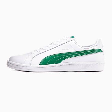 Smash Leather Trainers, Puma White-Verdant Green, small-SEA