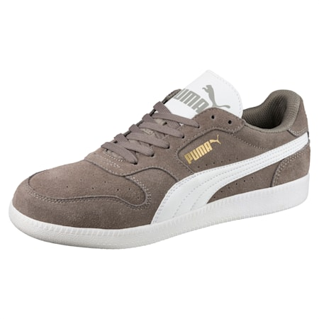 Icra Suede Trainers, Steel Gray-Puma White, small-GBR