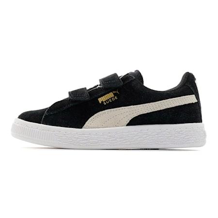 キッズ スウェード 2ストラップ PS (17-21cm), Puma Black-Puma White, small-JPN