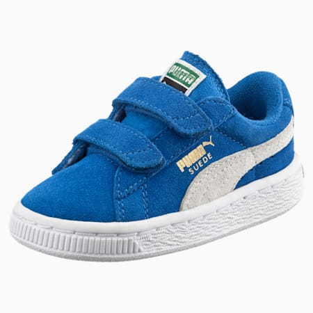 Suede 2 Straps Babies' Trainers, Snorkel Blue-Puma White, small-SEA