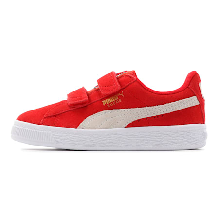 キッズ スウェード 2ストラップ PS (17-21cm), High Risk Red-Puma White, small-JPN