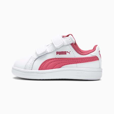 Scarpe da ginnastica per bambino Smash, Puma White-Rapture Rose, small
