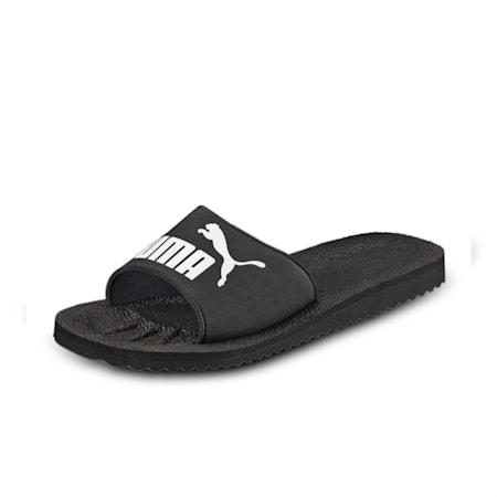 Purecat Unisex Slides, black-white, small-IND