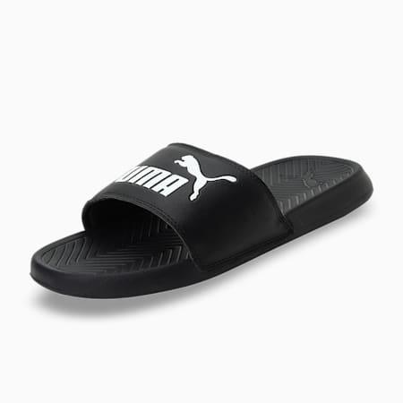 Popcat Unisex Slides, black-black-white, small-IND