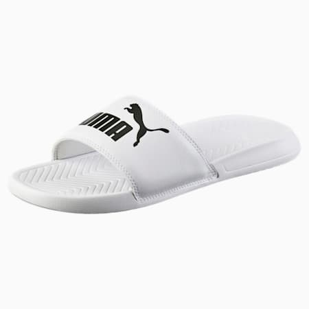 Popcat Slide Sandals, Puma White-Puma Black, small