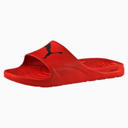 Divecat Unisex Slides, high risk red-black, small-IND