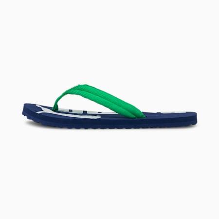 Epic Flip v2 Kids' Sandals, Elektro Blue-Island Green-Puma White, small-GBR