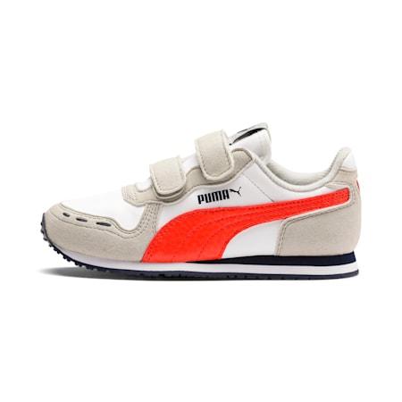 Cabana Racer SL V PS Baby Trainers, Puma White-Gray Violet-Cherry Tomato-Peacoat, small-SEA