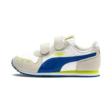 Cabana Racer SL V PS Baby Trainers, Puma White-Galaxy Blue, small-SEA