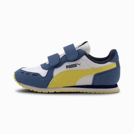Cabana Racer SL V PS Baby Trainers, Puma White-Bright Cobalt, small