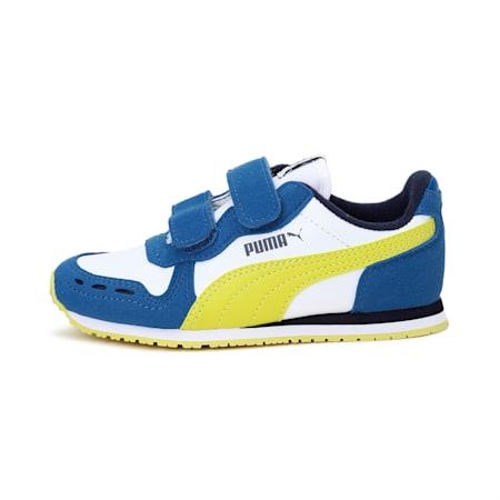 Cabana Racer IMEVA Kids' Shoes, Puma White-Bright Cobalt, small-IND