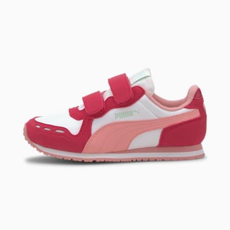 Cabana Racer IMEVA Kids' Shoes, Puma White-BRIGHT ROSE-Peony, small-IND
