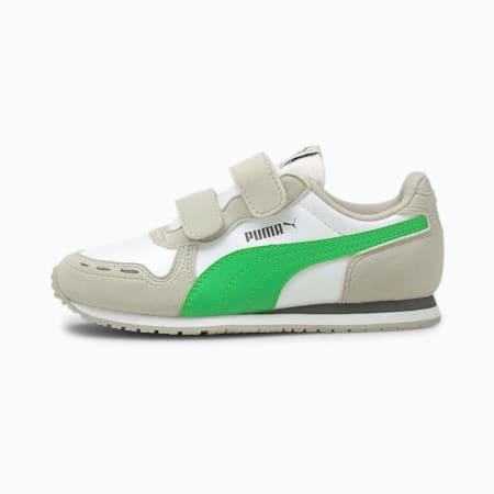 Cabana Racer IMEVA Kid's Shoes, Puma White-Island Green, small-IND
