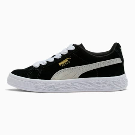 Suede Little Kids' Shoes, Puma Black-Puma White, small