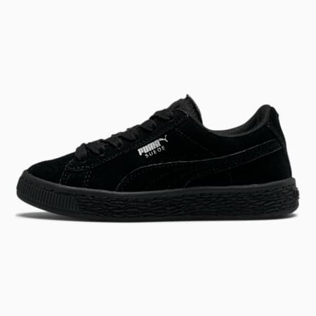 Suede Little Kids' Shoes, Puma Black-Puma Silver, small