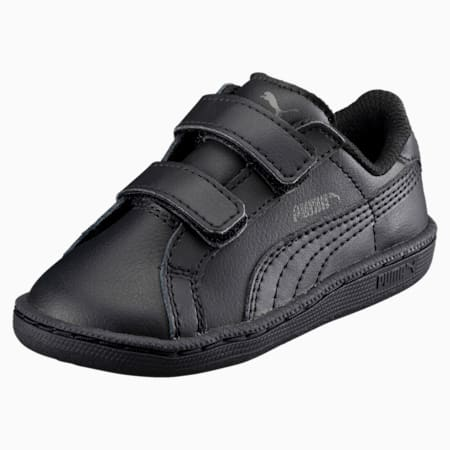 Smash Leather V PS Kids' Trainers, Puma Black-Puma Black, small-SEA